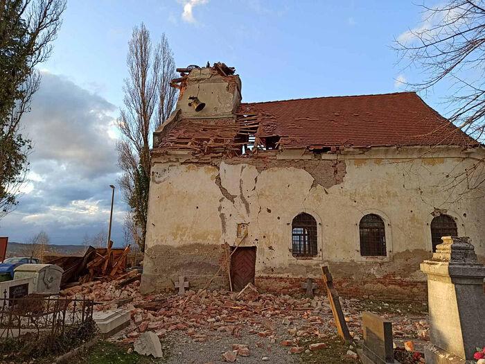 Во время землетрясения Хорватии пострадали православные храмы