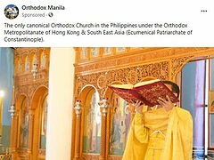 """Constantinople advertises itself as """"only canonical Orthodox Church"""" in Philippines after losing priest to Russian Church"""