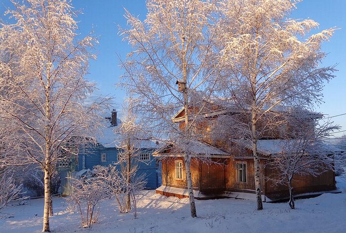 Красавица Зима в Казанской Трифоновой пустыни