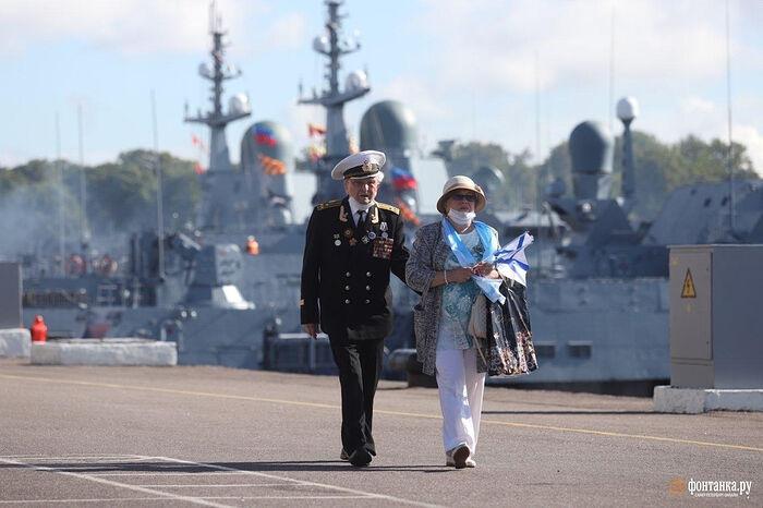 На военно-морском параде 26 июля 2020 года