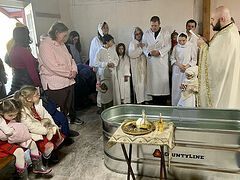 Nine Baptisms celebrated at ROCOR mission in Maine