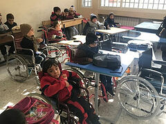 Syrian children with disabilities receive wheelchairs from Russian Church