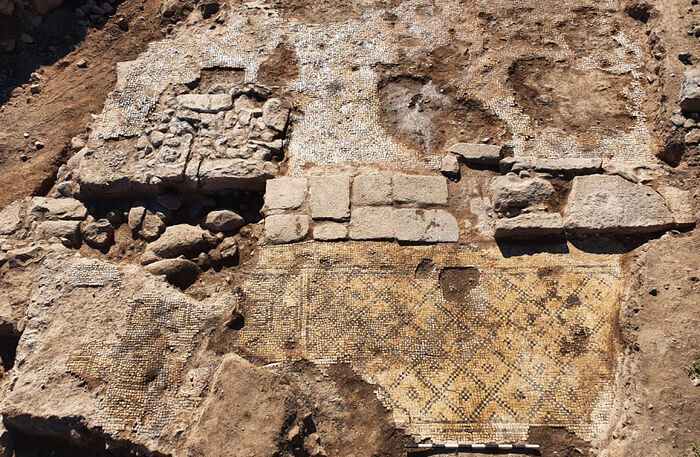 """The building where the inscription """"Christ born of Mary"""" was uncovered in excavation at et-Taiyiba, Jezreel Valley (photo credit: TZACHI LANG/ISRAEL ANTIQUITIES AUTHORITY)"""