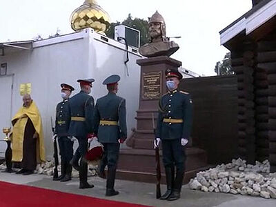 На российской базе Хмеймим в Сирии открыли памятник Александру Невскому