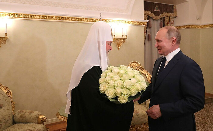 Президент России Владимир Путин поздравил Святейшего Патриарха Кирилла с годовщиной интронизации