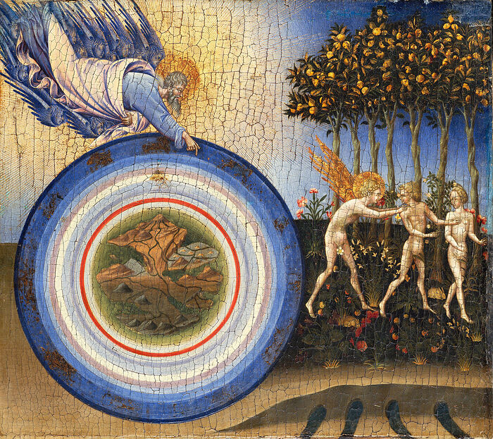 Giovanni di Paolo. The Creation of the World and the Expulsion from Paradise, 1445. Photo: wikiwand.com