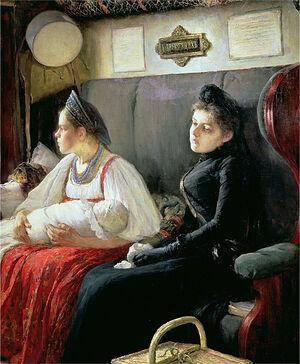 Λεονίντ Οσίποβιτς Παστερνάκ: καθ΄οδόν στούς συγγενείς, 1891
