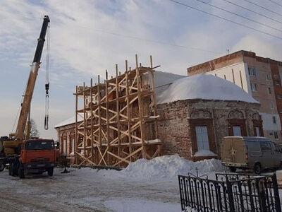 В городе Балахне началась реставрация возрождающегося Крестовоздвиженского храма