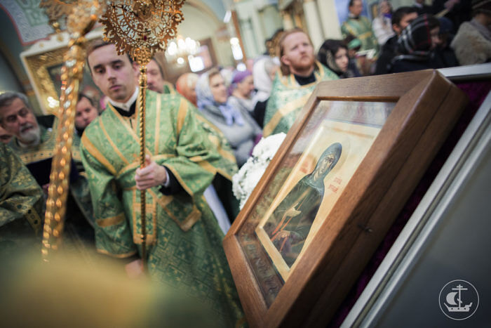 A festal service on the feast of Blessed Xenia. The St. Petersburg Theological Academy