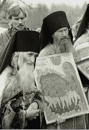 Ο Γέροντας Ηλίας και ο Δικαίος της σκήτης, ηγούμενος Τύχων (Μπορίσοβ)