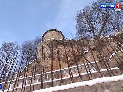 Скалу под стенами Снетогорского монастыря защитят от разрушения