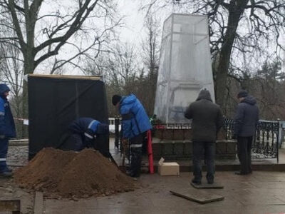 Начались реставрационные работы на могиле Александра Сергеевича Пушкина
