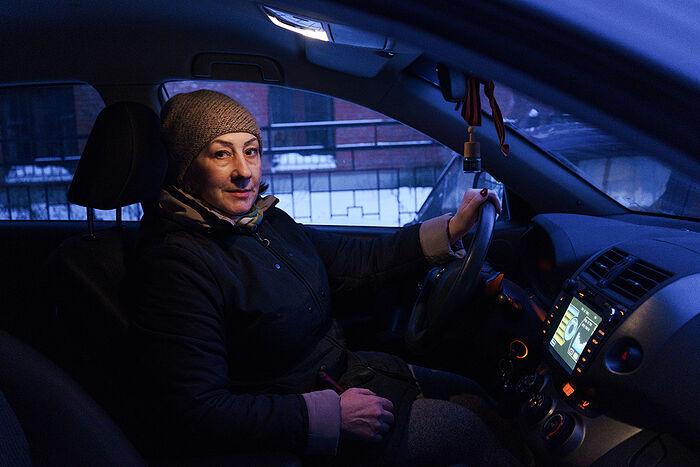 Волонтер-водитель Надежда Козина