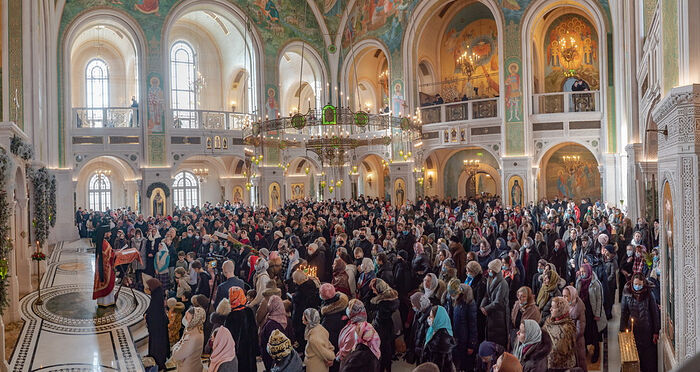 Divine Liturgy on the Feast of the Holy New Martyrs and Confessors of Russia in the Church of the Ressurection and New Martyrs and Confessors of Russia, Sretensky Monastery, Moscow. Photo: A.Goryainov / monastery.ru