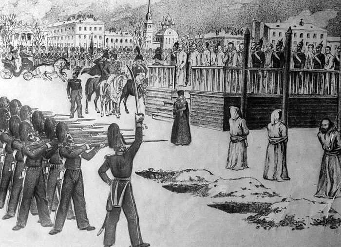 Staged execution on Semonov Square. Photo: wikimedia.org