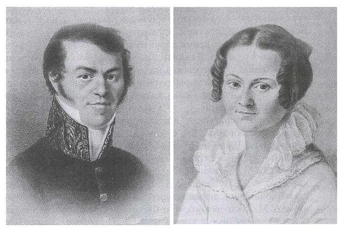 The Parents - Mikhail Andreyevich and Maria Fyodorovna Dostoevsky. Photo: wikimedia.org