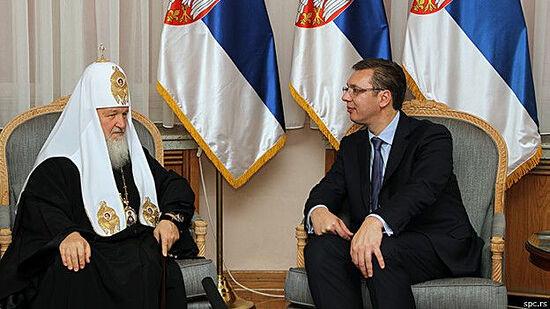 Patriarch Kirill meets with President Vučić in 2014. Photo: bbc.com