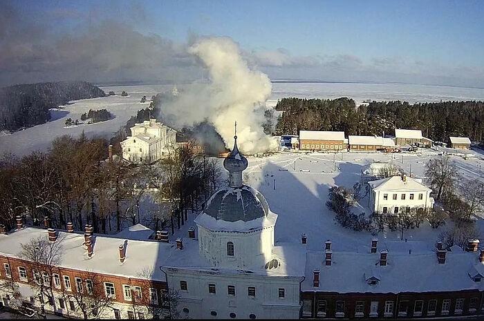 На территории Валаамского монастыря произошел пожар