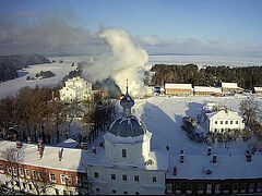 16-hour fire at Valaam Monastery extinguished, no casualties (+VIDEO)