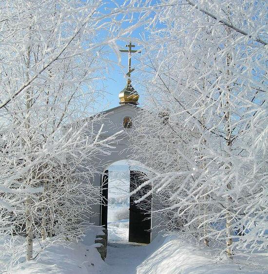 Στο μοναστήρι της εικόνας της Παναγίας «Καζάνσκαγια» και του Οσίου Τρύφωνα του Περμ
