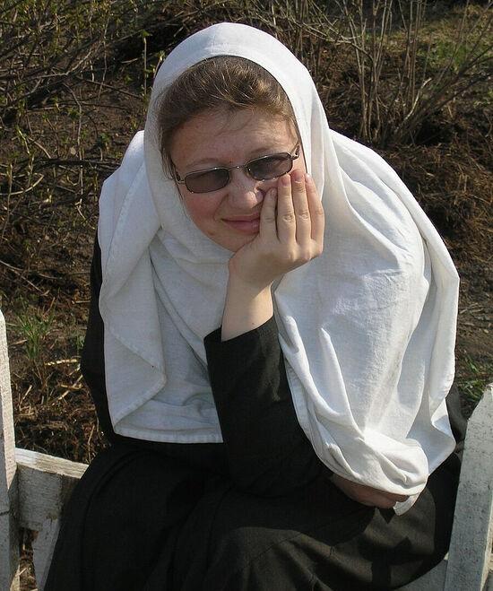 Η ρασοφόρα μοναχή Χριστίνα