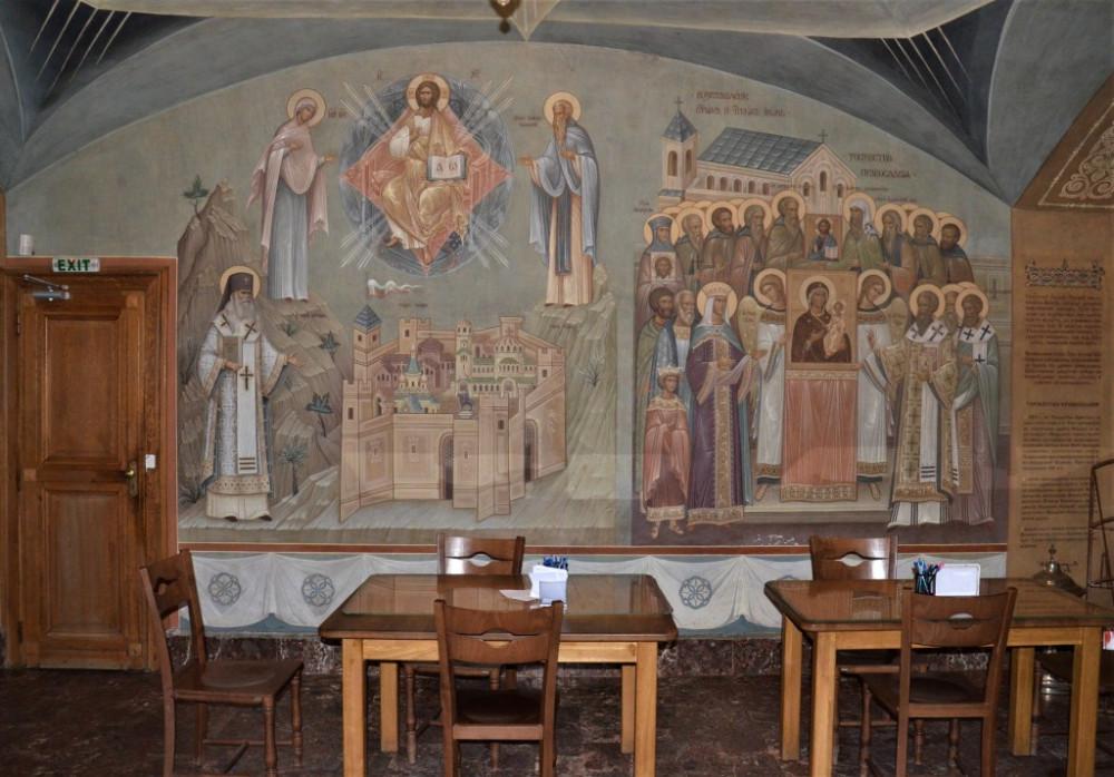 Фрески крипты Патриаршего подворья в Софии