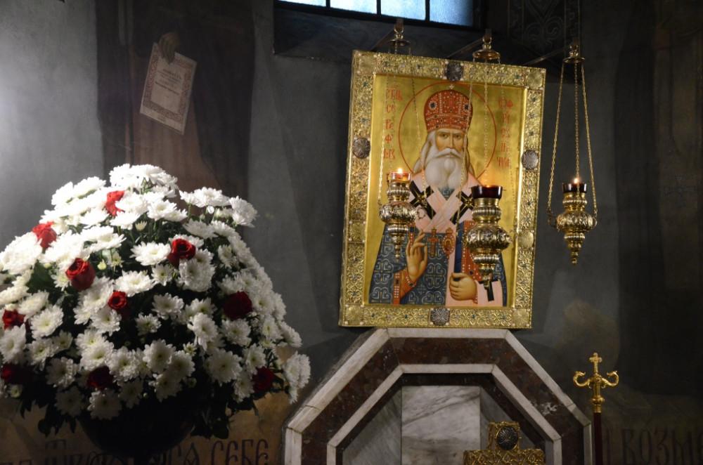 Икона святителя Серафима (Соболева) в крипте храма