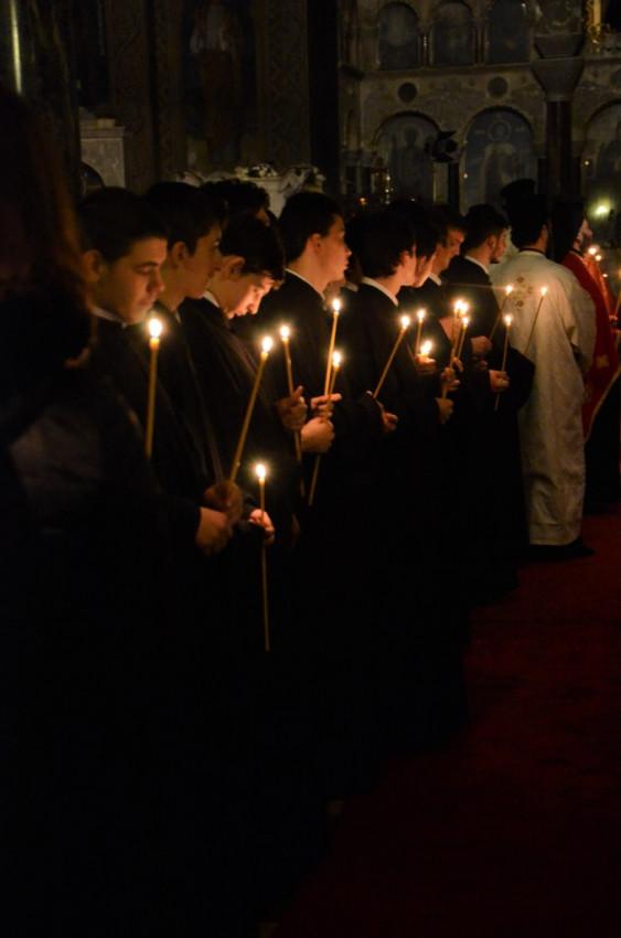 Всенощное бдение в Патриаршем Александро-Невском соборе. 25 февраля 2016 г.