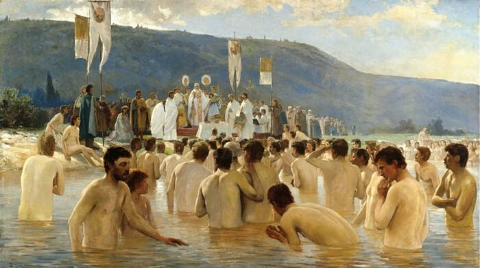 """The Baptism of Rus'"" by V. Navozov"
