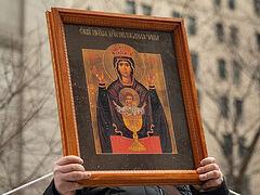 Archbishop Michael (OCA) serves moleben in front of Brooklyn abortion clinic (+VIDEO)