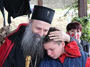 Сербский Патриарх Порфирий посетил пострадавших от землетрясения