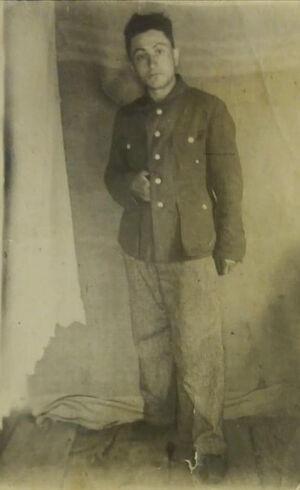 Afon Bekmurzov in the Ivdellag Labor Camp. 1944