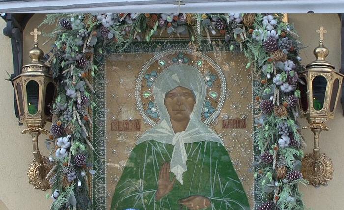 Икона блаженной Матроны в Покровском монастыре