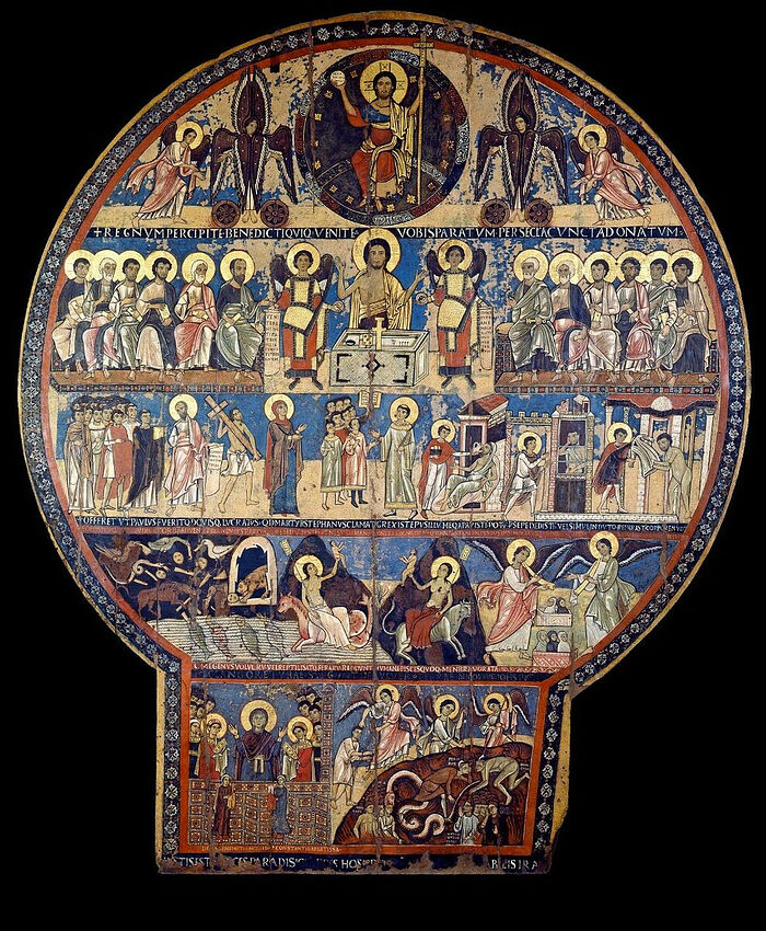 The Last Judgment, from the Oratory of St. Gregory of Nazianzus in Rome. 2nd half of 12th century. Photo: museivaticani.va