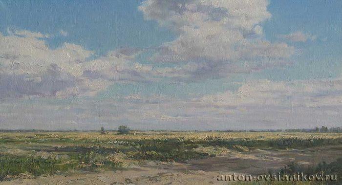 Μια καλοκαιρινή μέρα. Έτος 2005. Πανί, ελαιογραφία. 30х55. Ζωγράφος: Αντόν Οβσιάνικοβ.