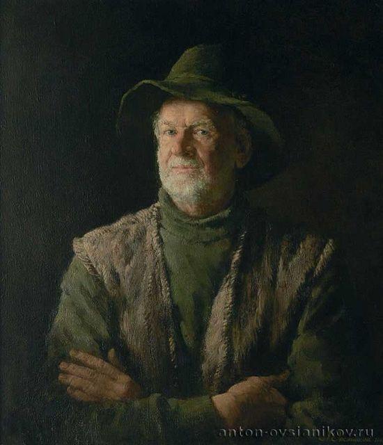 Προσωπογραφία του πατέρα. Πανί, ελαιογραφία. 70х60. Ζωγράφος: Αντόν Οβσιάνικοβ.