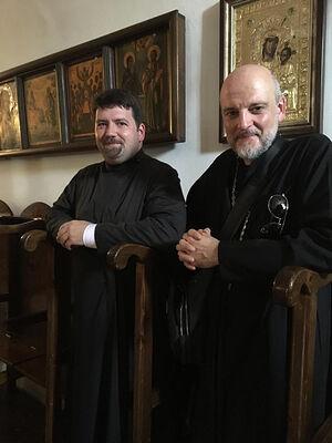 Отец Серафим Ган и Н.Гансон на Святой Земле в мае 2019 года