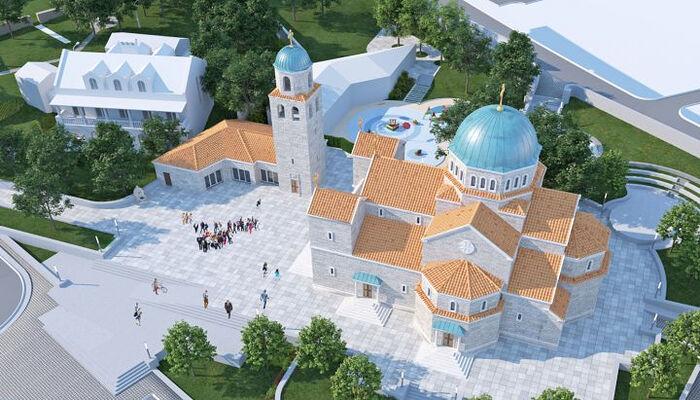 Σχέδιο του μελλοντικού ναού στη Μπούντβα. Πηγή: europrojekt.me