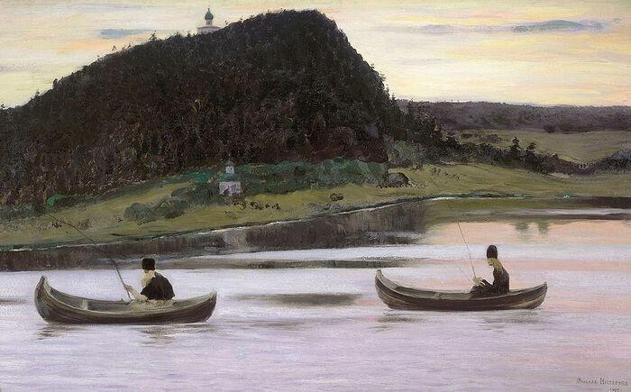 «Молчание», М.В. Нестеров, 1903, Государственная Третьяковская галерея
