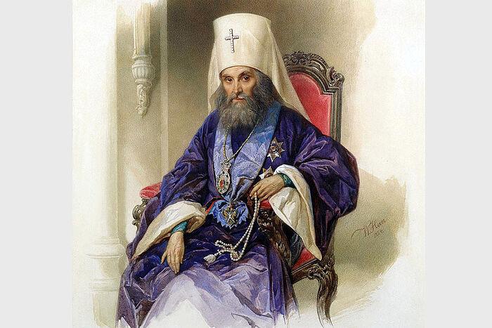 Портрет митрополита Филарета Московского, В. Гау, 1854, Государственный Исторический музей
