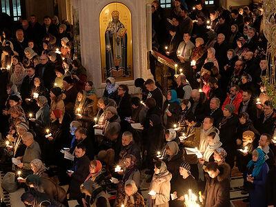 Ακολουθία του Μεγάλου Κανόνος στην Ιερά Μονή Σρέτενσκι