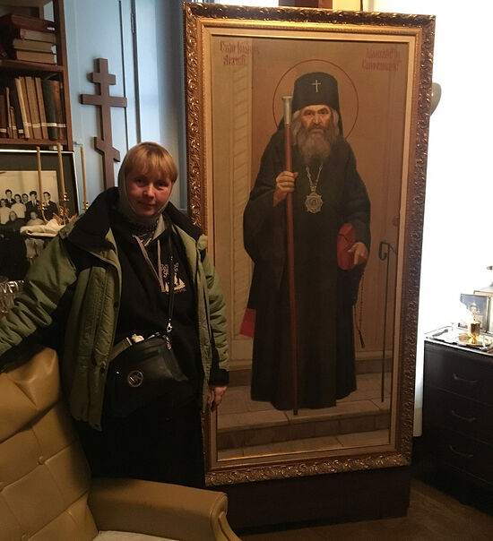 In St. John's cell at St. Tikhon's Orphanage in San Francisco
