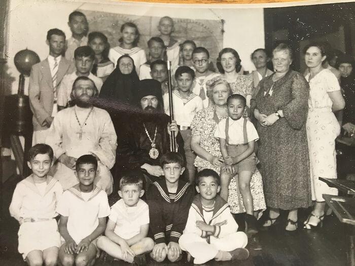 Archbishop John with parishioners
