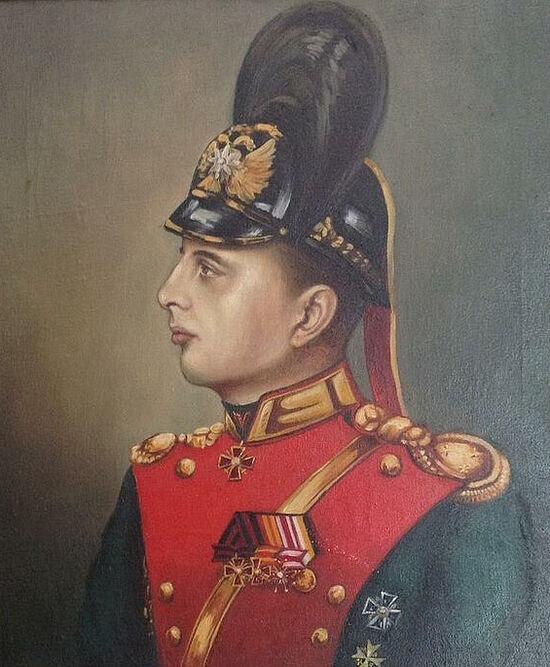 Vladimir Emilievich Rossi's portrait as a Horse Grenadier
