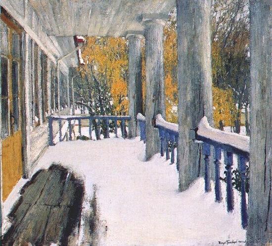 И. Грабарь. Сентябрьский снег. 1903 г.