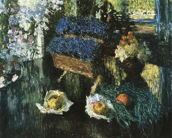 И. Грабарь. Цветы и фрукты на рояле. 1904 г. ГРМ