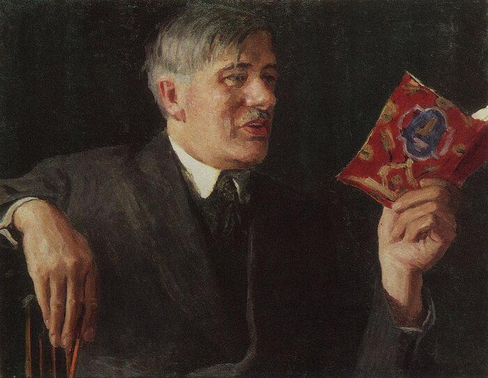 И. Грабарь. Портрет К.И. Чуковского. 1935 г.