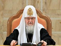 O Πατριάρχης Μόσχας εύχεται για το 1821