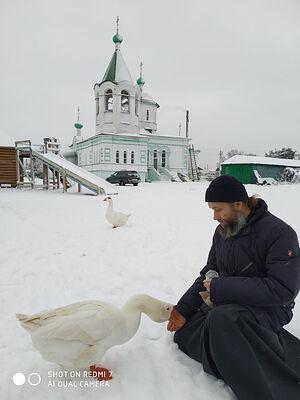 Fr. Anatoly at the Church of St. Seraphim of Sarov in Kharovsk