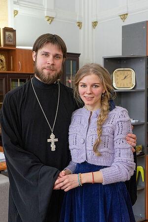 Священник Константин Белый с супругой Марией